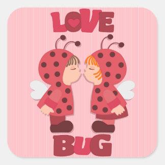 Love Bugs Beetles Valentine's Stickers