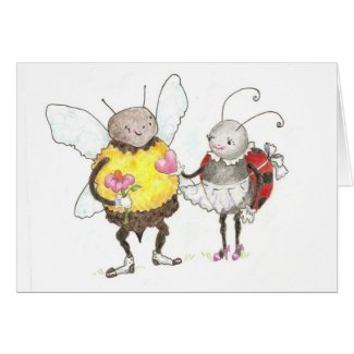 love bugs card card