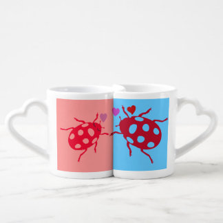 Love bugs coffee mug set