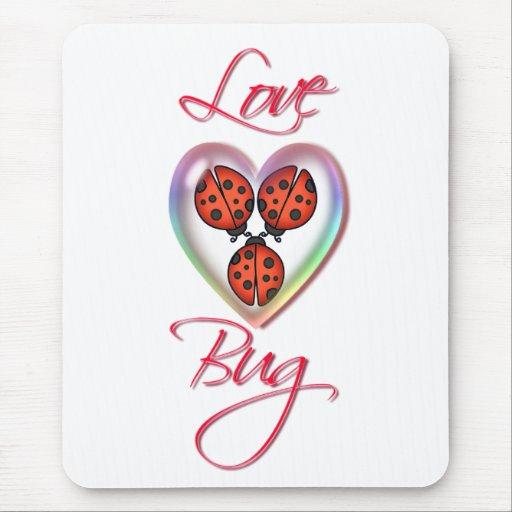 LOVE BUGS & HEART BUBBLE by SHARON SHARPE Mouse Mats