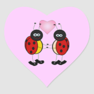 Love Bugs Ladybug Heart Sticker