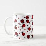 Love Bugs Red Ladybugs Coffee Mug