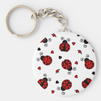 Love Bugs Red Ladybugs Keychain