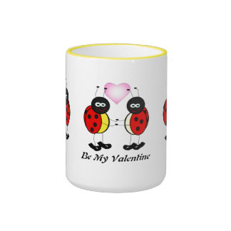 Love Bugs Ringer Coffee Mug
