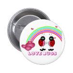 Love bugs Valentine's Day Button