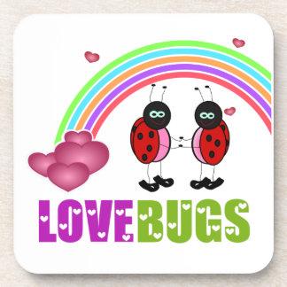 Love bugs Valentine's Day Cork Coaster