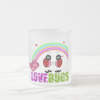 Love bugs Valentine's Day frosted Mug