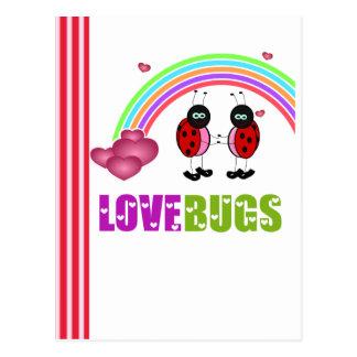 Love bugs Valentine's Day Postcard