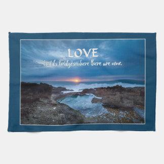 Love Builds Bridges hand towel