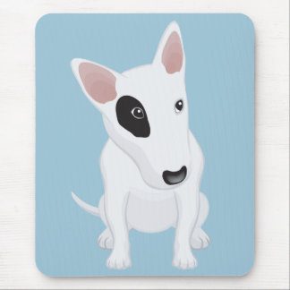 Love Bull Terrier Puppy Dog Blue Mousepad