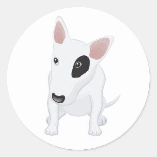 Love Bull Terrier Puppy Dog Blue Sticker / Label
