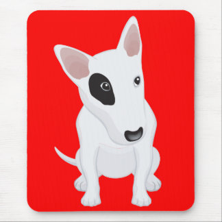 Love Bull Terrier Puppy Dog Red Mousepad