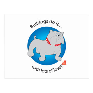 Love Bulldog Post Cards