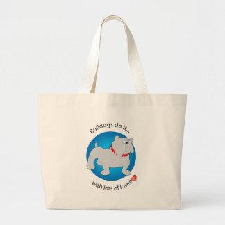 Love Bulldog Tote Bags