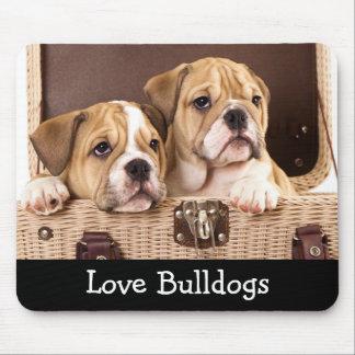 Love  Bulldogs; Bulldog Puppies Mousepad
