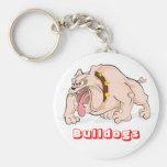 Love Bulldogs Cartoon Bulldog Puppy Dog Keychain