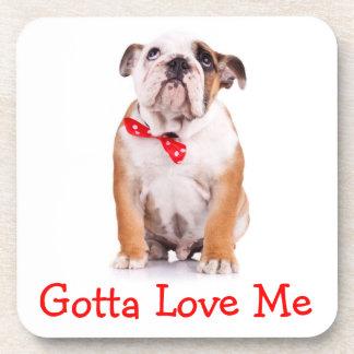 Love Bulldogs English Bulldog Puppy Coaster Set