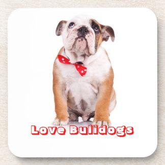 Love Bulldogs English Bulldog Puppy Dog Coaster