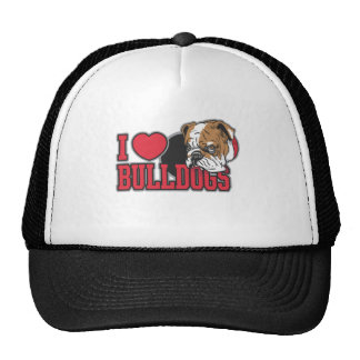 Love Bulldogs Trucker Hat