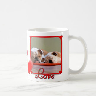 Love Bulldogs large mug