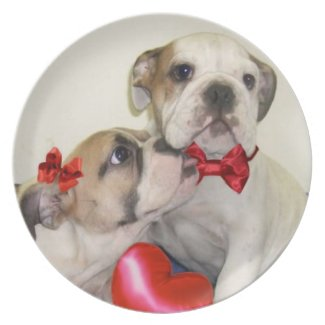 Love bulldogs plate