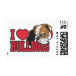 Love Bulldogs Postage Stamps