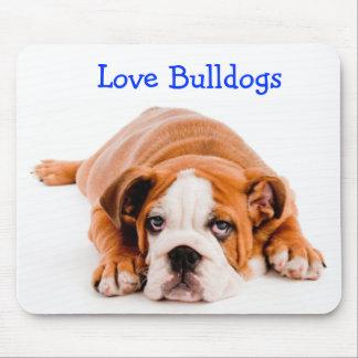 Love Bulldogs Puppy Mousepad