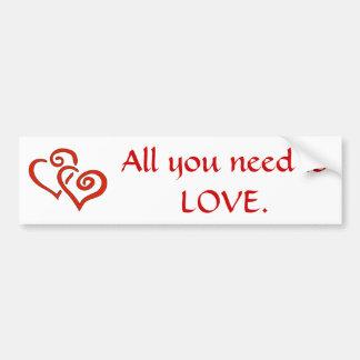 Love Car Bumper Sticker