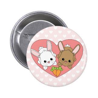 Love Bunnies 2 Inch Round Button