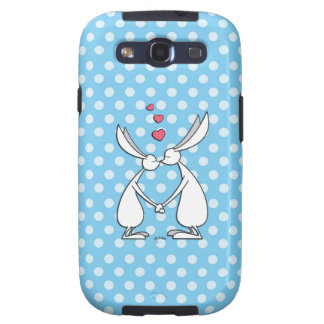Love bunnies - blue galaxy s3 covers