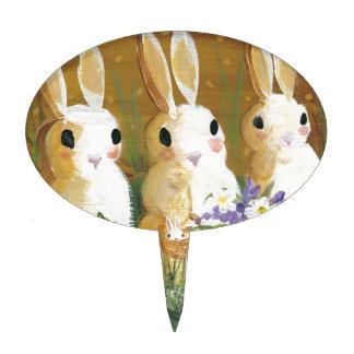 love bunnies cake pick