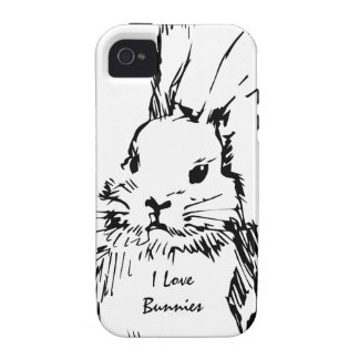 Love Bunnies customizable iPhone 4 Cases