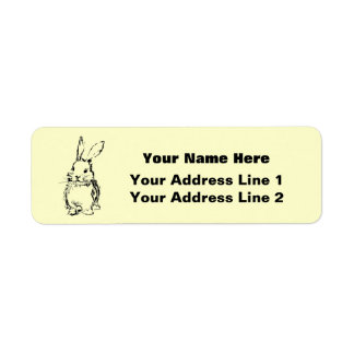 Love Bunnies (customizable) Custom Return Address Label
