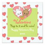 Love Bunnies 5.25x5.25 Square Paper Invitation Card