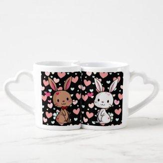Love Bunnies Lovers Mug Set