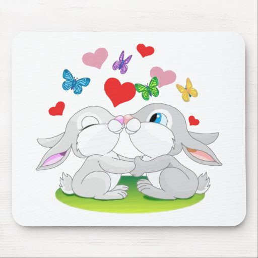 Love Bunnies Mouse Pad