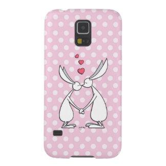 Love bunnies - pink galaxy nexus case