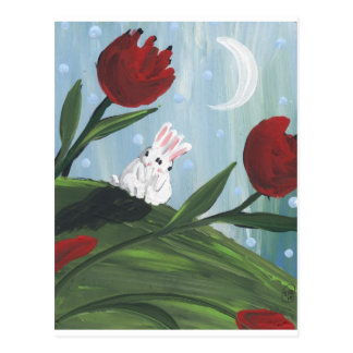 love bunnies postcard
