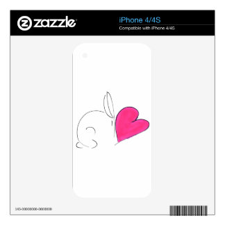 love bunny5.png decal for iPhone 4