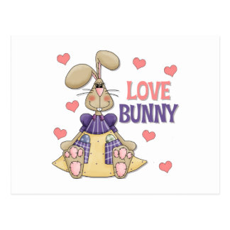 Love Bunny Kids Easter Gift Postcard
