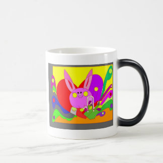 love bunny  11 oz magic heat Color-Changing coffee mug