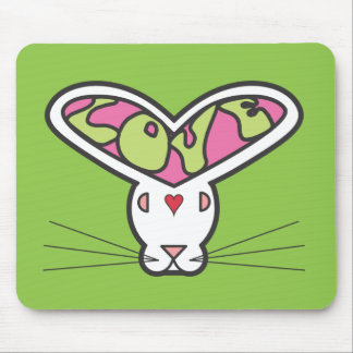 Love Bunny - Old School Mouse Pad