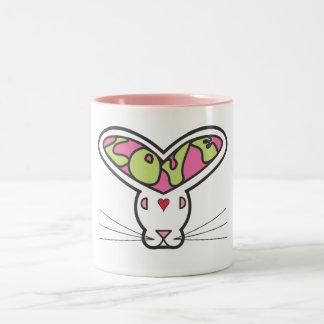 Love Bunny - Old School Two-Tone Coffee Mug