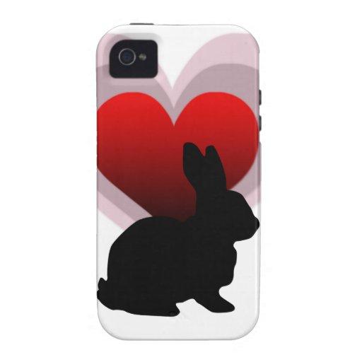 Love bunny rabbit - customisable iPhone 4 case