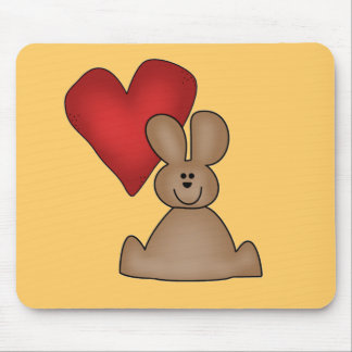 Love Bunny T-shirts and Gifts Mouse Pad