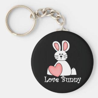 Love Bunny Valentine Basic Round Button Keychain