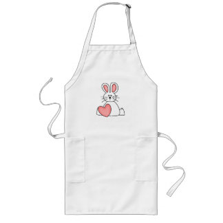 Love Bunny Valentine Long Apron