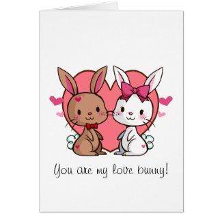 Love Bunny Valentine's Card