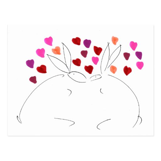 love bunnys001 postcard