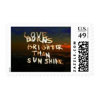 Love Burns Brighter Than Sunshine Postage Stamp